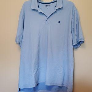 Like new men's light blue IZOD polo 2XLT.